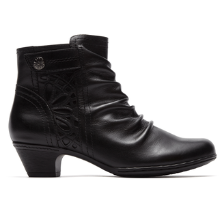 Abilene Zip Bootie Cobb Hill by Rockport in Black