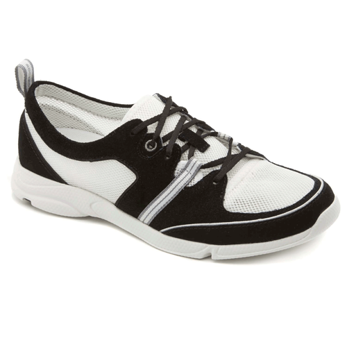 Cycle Motion Lace Up Women's Walking Shoes in Black