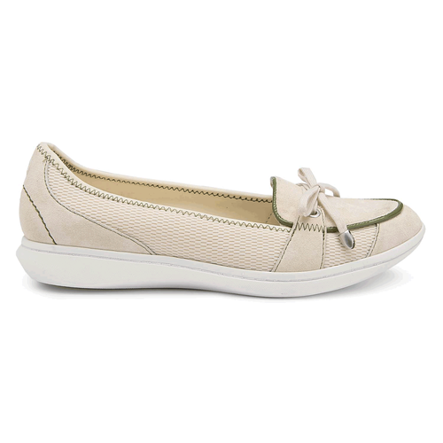 Yezenia Bow Tie Slip On Women's Flats in White