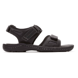 Rockport Men's Black Kevka Lake Quarter Strap Sandal