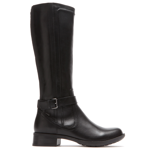 Christy Waterproof Tall Boot by Rockport in Black