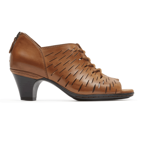 Cobb Hill Spencer Pref Lace-Up Comfortable Women's Shoes in Brown