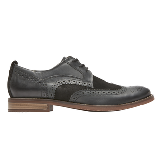 Wynstin Wing Tip, BLACK