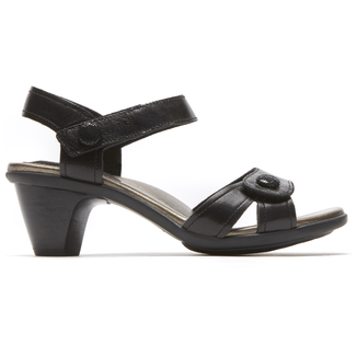 Medici Mila Adjustable Sandal in Black
