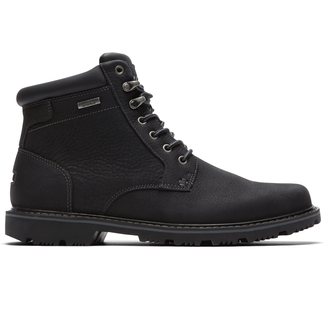 Rockport Men's Black Gentlemen's Waterproof Mid Plaintoe Boot