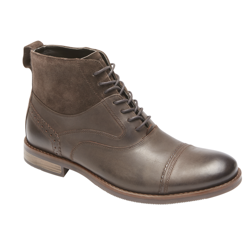 Wynstin Cap Toe Boot, DARK BITTER CHOCOLATE