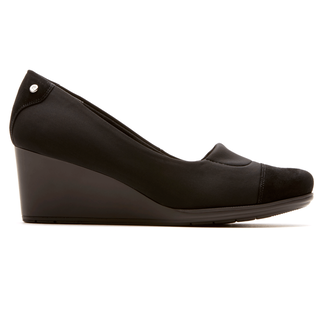 Total Motion Cap Toe Wedge - Women's Black Wedges