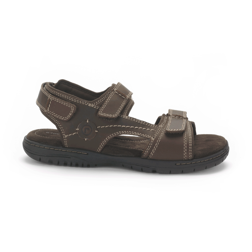 River Heights 3 Strap Men's Sandals in Brown