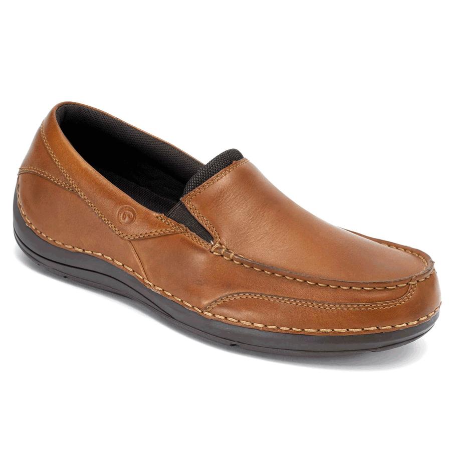 Rockport Mens Balabour Slip-On Shoes (Dark Tan)