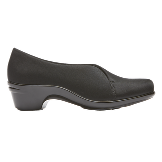 Kitt Asym Slip On, BLACK STRETCH