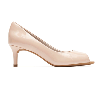 Total Motion Finula Peep Toe PumpRockport Women's Nude Total Motion Finula Peep Toe Pump