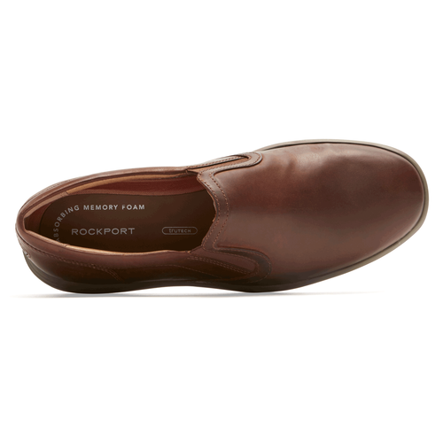 Thurston Gore Slip-On, DK TAN LEATHER