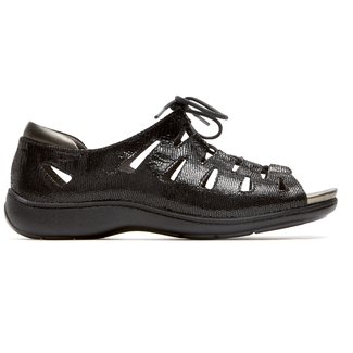 Bromly Ghille Sandal Extended Size Women's Shoes in Black