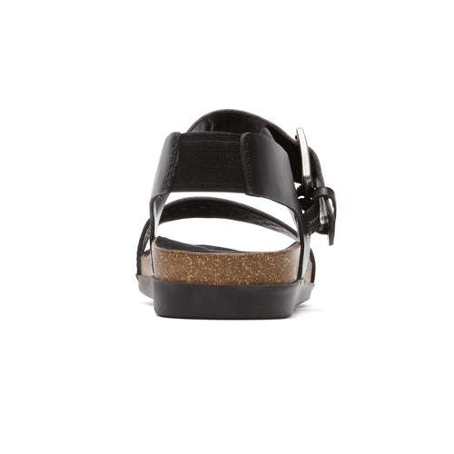 Total Motion Romilly Buckle Quarter Strap Sandal in Black