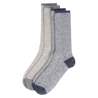 Light Weight Marled Socks in Black