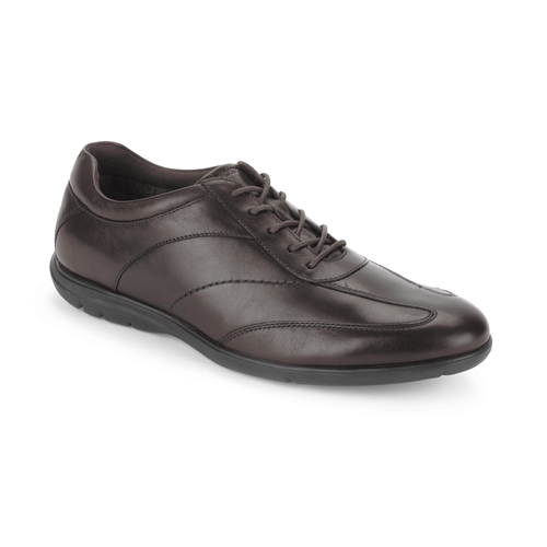 Style Side T-Toe Men's Walking Shoes in Brown