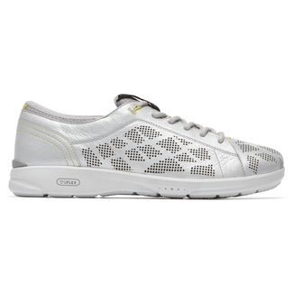 TruFlex Lace-to-Toe Comfortable Women's Shoes in Grey