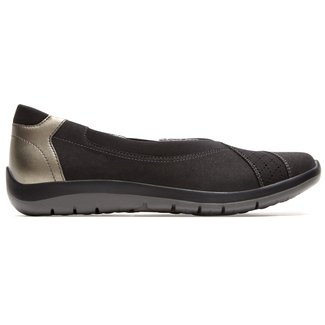 Webmly Envelope Extended Size Women's Shoes in Black