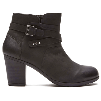 City Casuals Catriona Buckle Bootie in Black