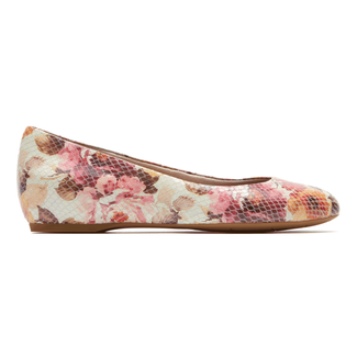Total Motion Hidden Wedge PumpRockport Women's Pink Floral Total Motion Hidden Wedge Pump