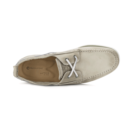 Coastal Springs 2 Eye Moc Stitch Down  Rockport in White