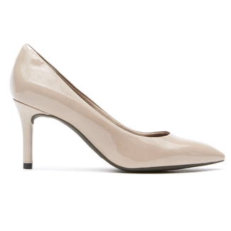 Total Motion Pointed Toe Pump in Grey