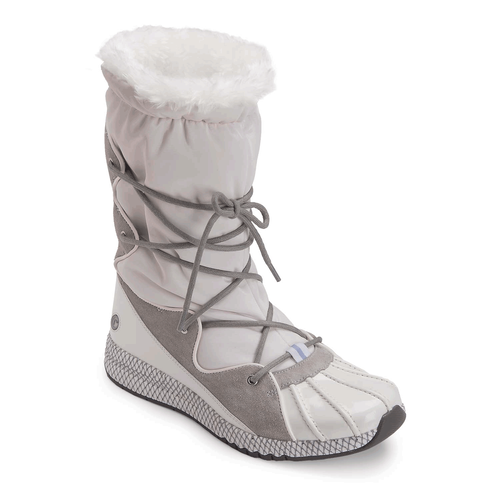 Zana Duck Scrunch Boot in White
