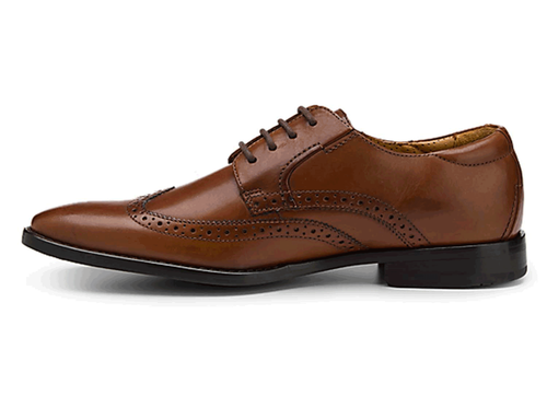 Oak Room Stitched Wingtip in Brown