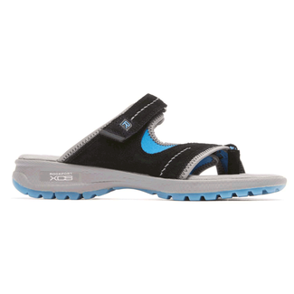 XCS RocSports Lite Sport Web Thong Slide in Black