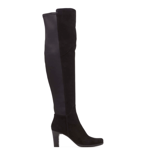 Total Motion Over Knee Boot in Black