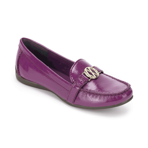Demisa Circle Loafer, Women's Purple Flats