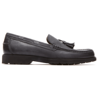 Classic Move Hanging Tassel Loafer in Black