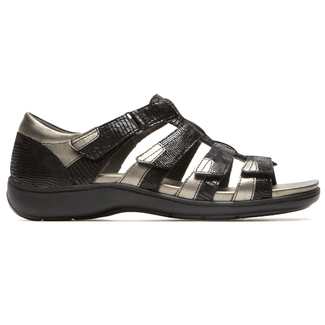 Bromly Gladiator Sandal Extended Size Women's Shoes in Black