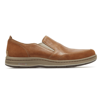 Weekend Retreat Plaintoe Slip-On Comfortable Men's Shoes in Brown