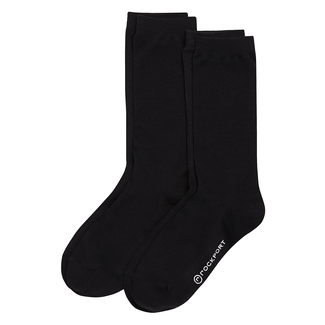 Women's Modal Flat Knit Crew Socks, BLACK