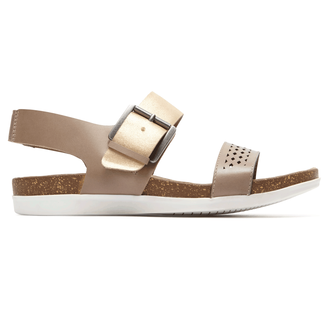 Total Motion Romilly Buckle Quarter Strap Sandal in Grey