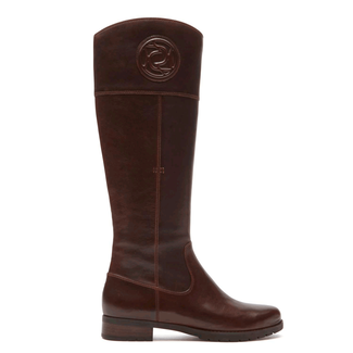 Tristina Rosette Tall Boot in Brown