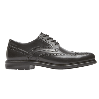 Total Motion Classic Dress Wing Tip, BLACK