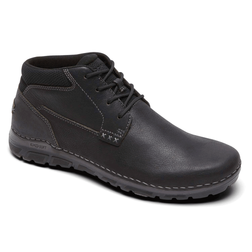 RocSports  Lite ZoneCush Plain Toe Boot Men's Boots in Black