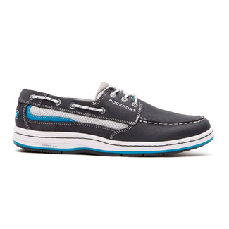 Weekend Retreat 3-Eye Boat ShoeRockport Men's Navy Weekend Retreat 3-Eye Boat Shoe