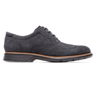 Rockport Men's Dark Grey Total Motion Fusion Wing Tip