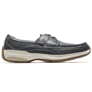 Waterford Captain Boat Shoe in Navy