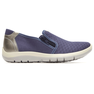 Wembly Side-Zip Extended Size Women's Shoes in Navy