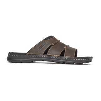 Darwyn Slide Sandal, BROWN II LEATHER