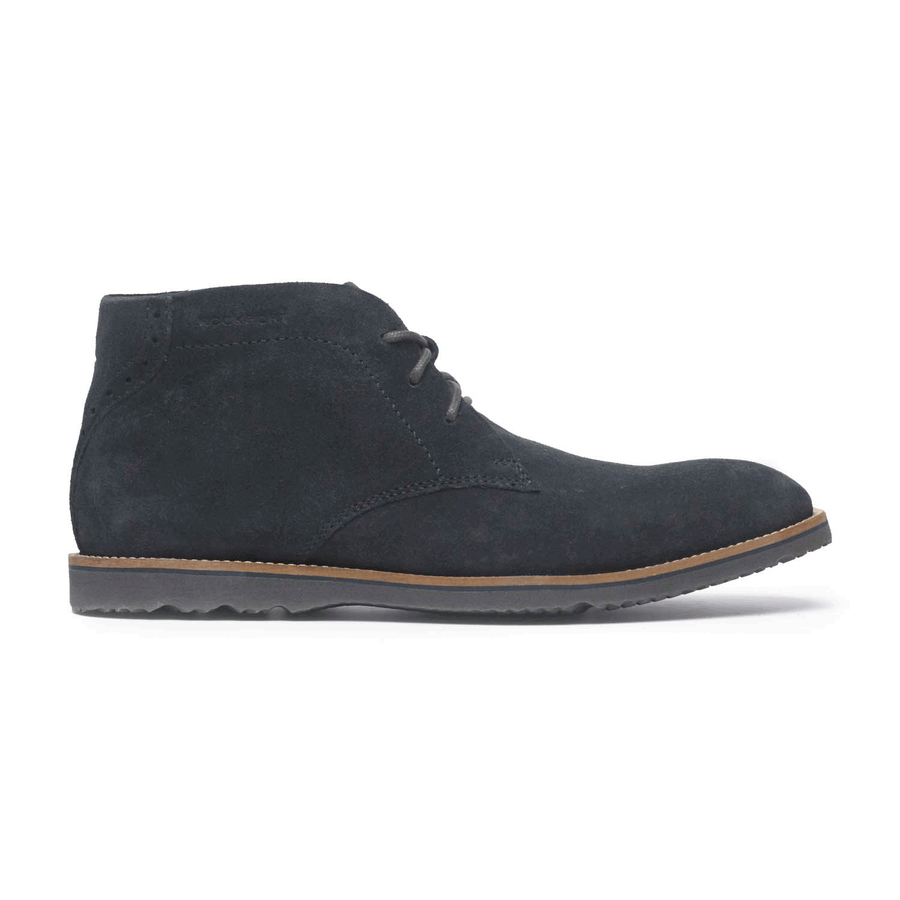 Rockport Men's Jazz Drive Chukka Boots (New Dress Blues Suede)