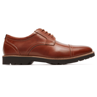 Classic Zone Cap Toe Oxford in Brown