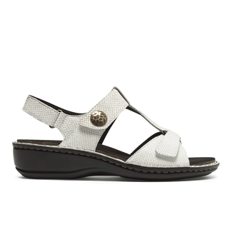 Cambridge Collette T-Strap Sandal in White