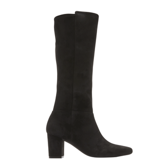 Gail Stretch Boot, BLACK SUEDE