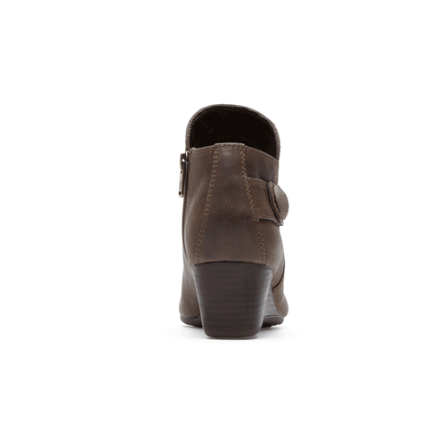 Total Motion Wedge Stone Bootie in Brown