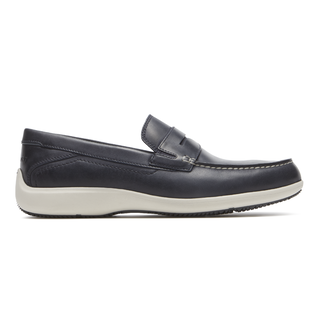 Aiden Penny Loafer  Comfortable Men's Shoes in Navy
